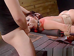 Ball Gagged Whore in the Basement Dungeon