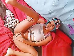 Girl Pussy In Yoga Pants Masturbate